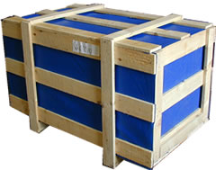 a crate for international ocean freight