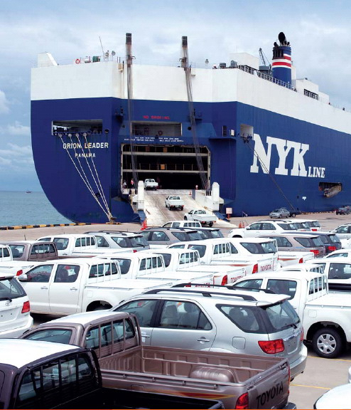 International shipping cars RO-RO